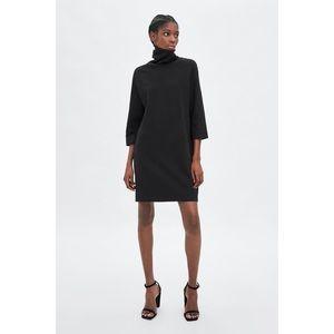 ZARA Black Plush Dress Women's Size Small